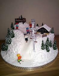 novelty birthday cakes ski cakes ski slope with skiers novelty birthday cake stuff to