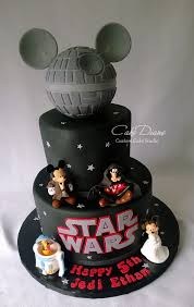 starwars cakes disney wars mickey birthday cake disney every day