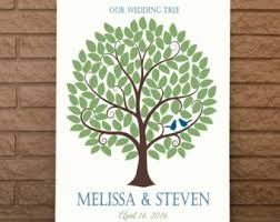 tree signing for wedding guest signature tree navy blue and yellow wedding signature