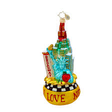 radko ornaments big city bag new york city ornament