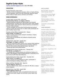 Resume Stanford Resume U0026 Experience U2014 Sophia Carter Kahn