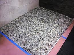 How To Clean Black Tiles Bathroom How To Lay A Pebble Tile Floor How Tos Diy