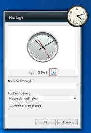 horloge bureau windows 7 les gadgets sous windows 7 aidewindows