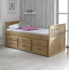 Single Bed Frame Just Captains Single Bed Frame With Trundle And Storage