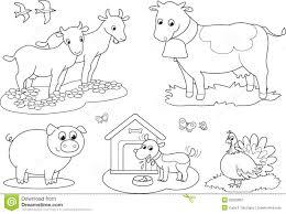 coloring farm animals 2 stock photos image 26555963