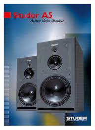 studer a5 speaker flyer info service manual download schematics