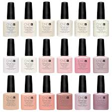 cnd shellac uv nail polish all new french manicure colours top