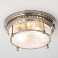 kitchen light fixtures flush mount fresnel glass industrial flushmount ceiling light living room