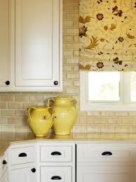 kitchen white ceramic subway tile kitchen backsplash with glass