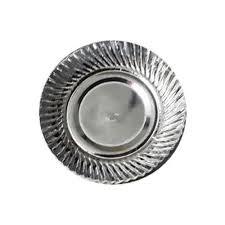 paper plates silver disposable paper plates 8 inch at rs 30 packet kopar