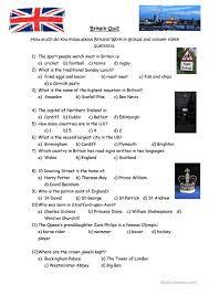 printable quizzes uk british culture quiz worksheet free esl printable worksheets made