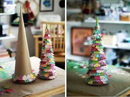 xmas tree on table kids paper christmas tree for table