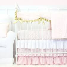 crib bedding sets girls this adorable blush pink and gold crib bedding set features