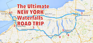 Road Trip Map The Ultimate New York Waterfalls Road Trip