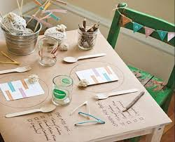 white paper rolls for tables kraft paper table covering ideas the bright ideas blog
