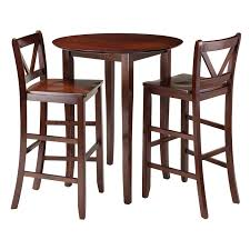 3 piece counter height table set winsome trading fiona 3 piece counter height round dining table set