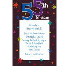 custom the party continues 55th birthday invitations party city