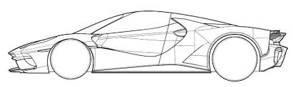 ferrari laferrari sketch ferrari patent images show new laferrari based car image 618359