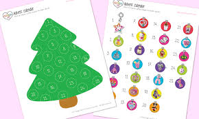 printable tree countdown calendar blank calendar design 2018