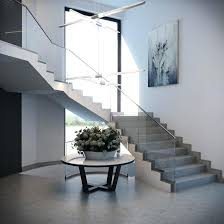 Glass Floor L Decoration Modern Glass Railing Beautiful Stair Design Exles