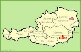 Austria World Map by Graz Location On The Austria Map