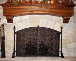 fine fireplace doors wrought iron door designs plans on design