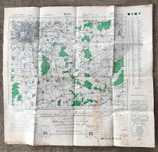 Metz France Map by Wwii Map War Office Map Eto Vintage Military Map Field Map