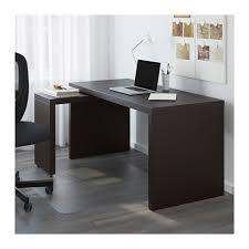 bureau ikea malm malm bureau avec tablette coulissante brun noir 151x65 cm ikea