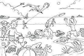beach coloring pages preschool beach coloring sheet at the beach coloring pages beach coloring
