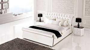 AE B White Leather Bedroom Set King And Queen Bedroom Design - White leather queen bedroom set