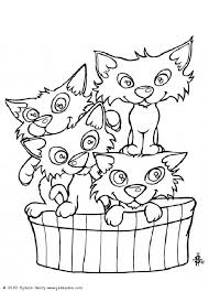 kitten coloring pages to print this cat u0027s basket coloring page is available for free in cat