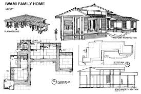 house perspective with floor plan japanese house house plans 22224