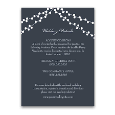 Wedding Registry Cards For Invitations Hotel Accommodation Card Archives Noted Occasions Unique And