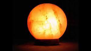 Himalayan Salt Lamp Authentic Himalayan Salt Lamp Globe Shape On A Rosewood Base