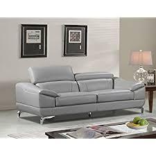 Gray Leather Sofas Amazon Com J U0026m Furniture Soho White Leather Sofa U0026 Loveseat With