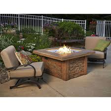 Outdoor Table With Firepit by Sierra Gas Fire Pit Table Mocha W Square Burner Sierra 2424 M K