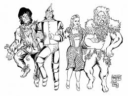 Fine Art Coloring Sheets Wizard Of Oz Coloring Pages