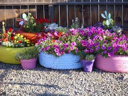 diy garden container ideas tire planters planters and gardens