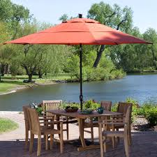 Large Tilting Patio Umbrella by Outdoor Patio 11 Ft Market Umbrella With Push Button Tilt With
