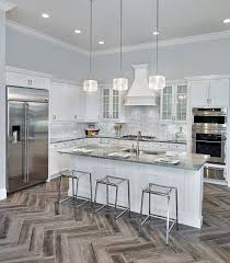 tiled kitchen floors ideas best 25 wood tile kitchen ideas on grey wood floors