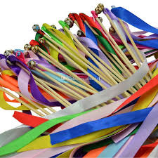 ribbon sticks cheap wedding ribbon stick 50pcs multicolor ribbon fairy wands