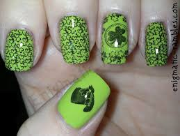 enigmatic rambles nails st patrick u0027s day 2014