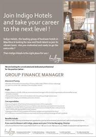 Vacancy For Interior Designer Indigo Hotels Vacancy Group Finance Manager Tel 202 4000 Job