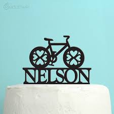 bicycle cake topper wedding cake topper personalized bicycle cake topper custom