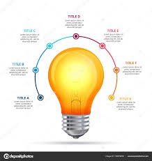 parts of a light bulb vector lightbulb infographic design template business concept with