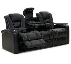 Cheap Sofa Recliners Octane Mega Multi Function Reclining Sofa In Black Bonded Leather