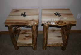 How To Make End Tables Furniture by Log End Tables Tables Savery Creek Furniture