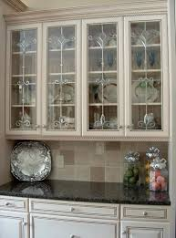 Kitchen Cabinets With Glass Doors Kitchen Design Fabulous Awesome Wallpaper Ideas Fabric Wallpaper