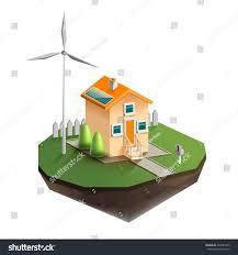 vector isolated illustration environmentally friendly house stock