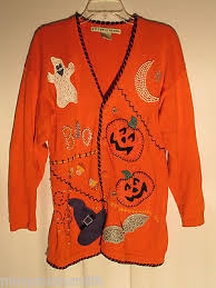the horrifically ghastly world of ugly halloween sweaters the